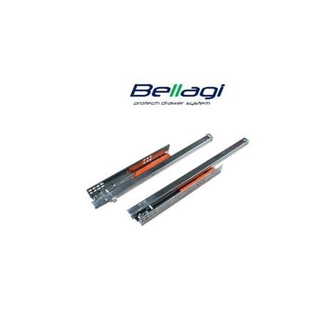 Skrytý  ¾  výsuv s PUSH OPEN 300 mm na 30 kg - Bellagi