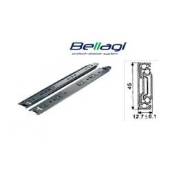 Ložiskový plnovýsuv Bellagi 600 mm na  45 kg