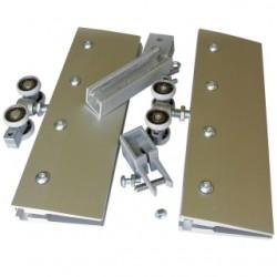 Posuvné kování pro skleněné dveře AXIUM GLASS 120 kg